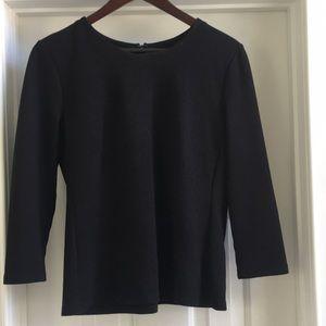 Talbots M, black, long sleeve